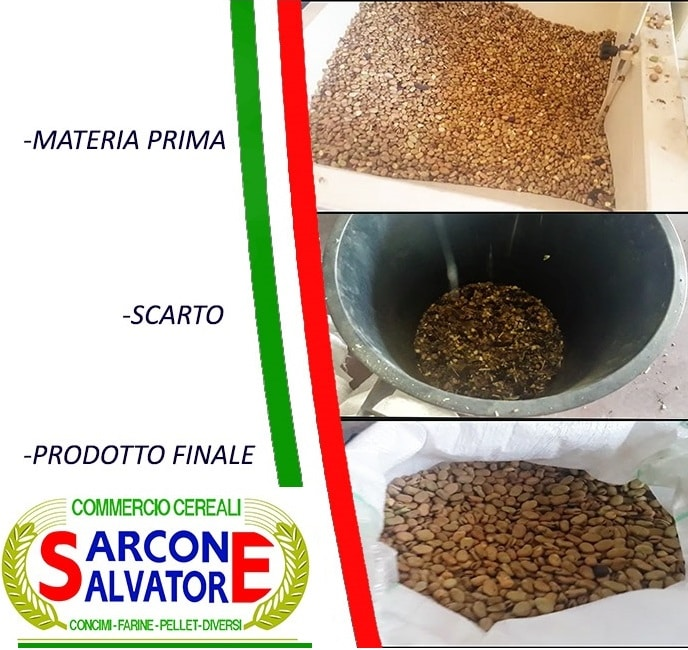 Pulitura e calibrazione legumi prodotti in calabria.